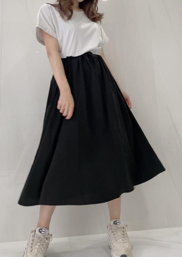 【selva secreta】CASUAL DRESS(gray×black)