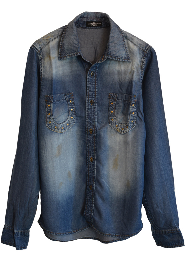 【ANTIMINSS】 HORSE SHOE DENIM SHIRT(DARK-blue)