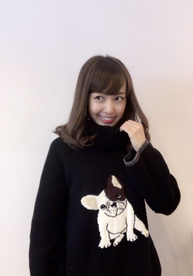 【selva secreta】FRENCH BULLDOG KNIT(black)