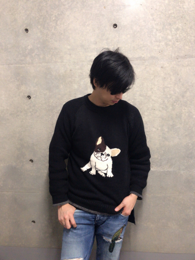 【selva secreta】MEN'S FRENCHBULL KNIT(black)