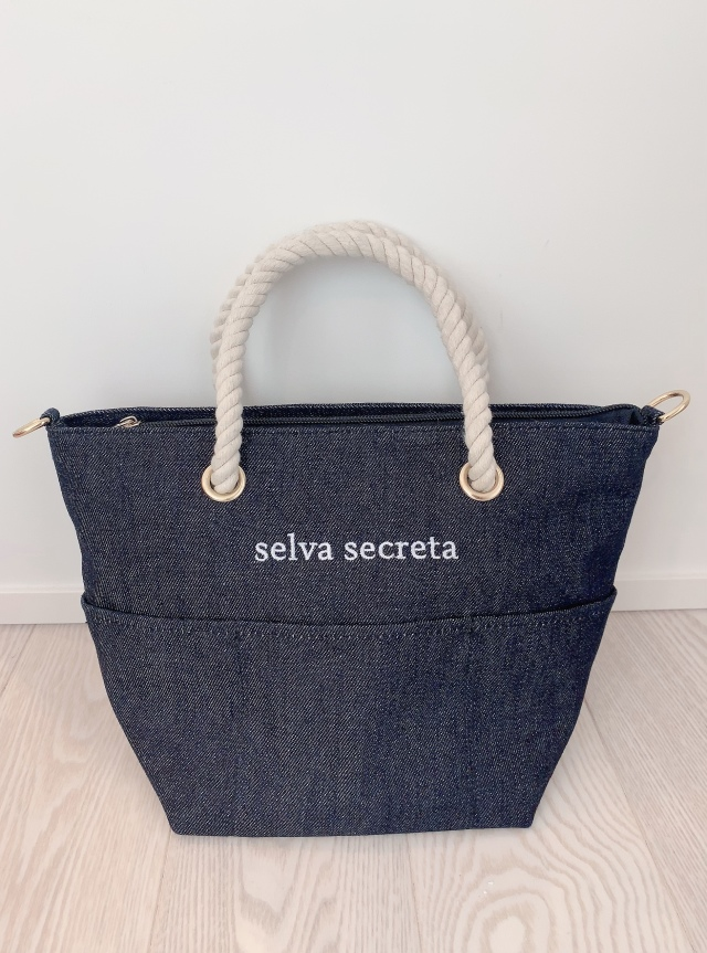 【selva secreta】ROPE LOGO TOTE BAG(denim)