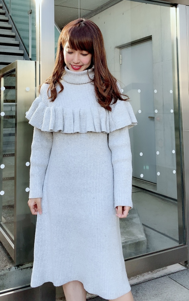【selva secreta】FRILL KNIT DRESS(gray)
