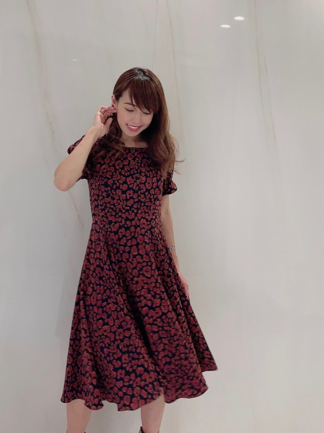 【selva secreta】Flare button DRESS(leopard)