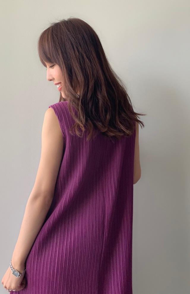 【selva secreta】A line DRESS(purple)