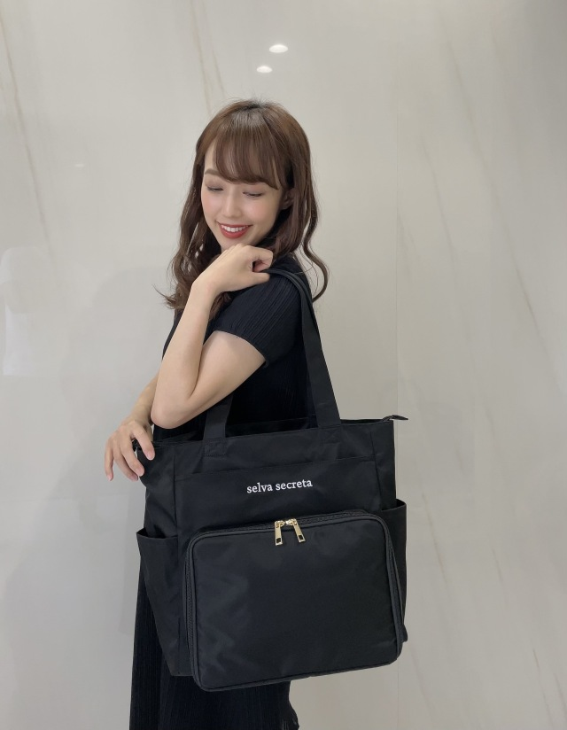 【selva secreta】Compact MOM TOTE BAG(black)