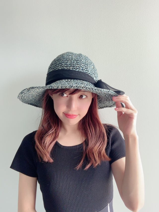 【selva secreta】RIBBON HAT(denim blue×black ribbon)