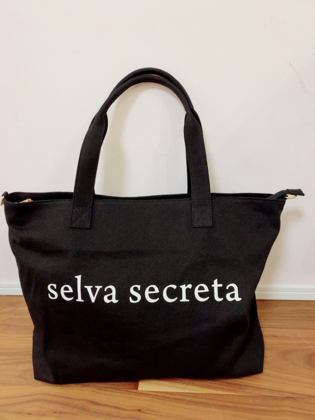 【selva secreta】LOGO TOTE BAG(BIG-BLACK)