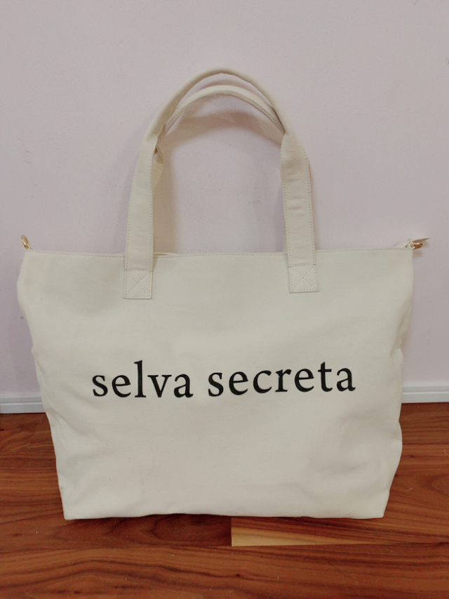 【selva secreta】LOGO TOTE BAG(BIG-WHITE)