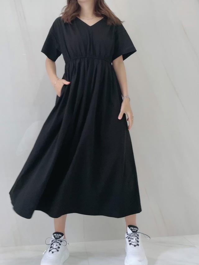 【selva secreta】Vneck Tshirt one-piece(black)