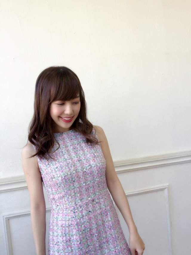 【selva secreta】TWEED FRINGE DRESS(FRENCH-PINK)