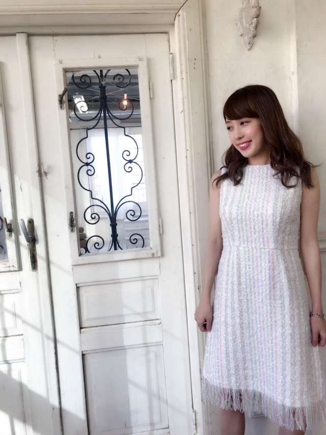 【selva secreta】TWEED FRINGE DRESS(FRENCH-WHITE)