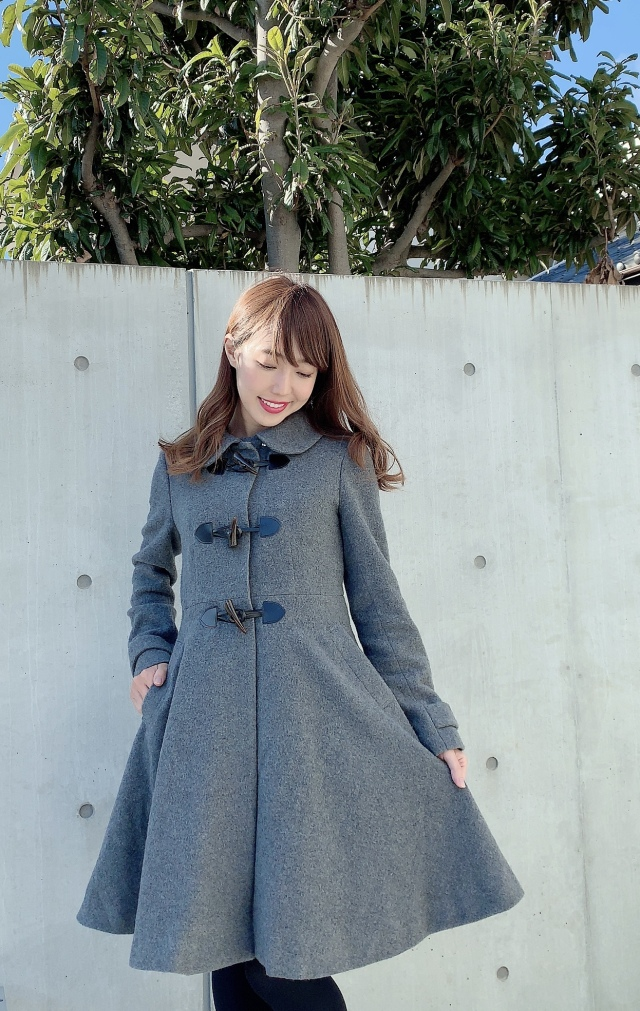 【selva secreta】DUFFLE FLARED  COAT(gray)