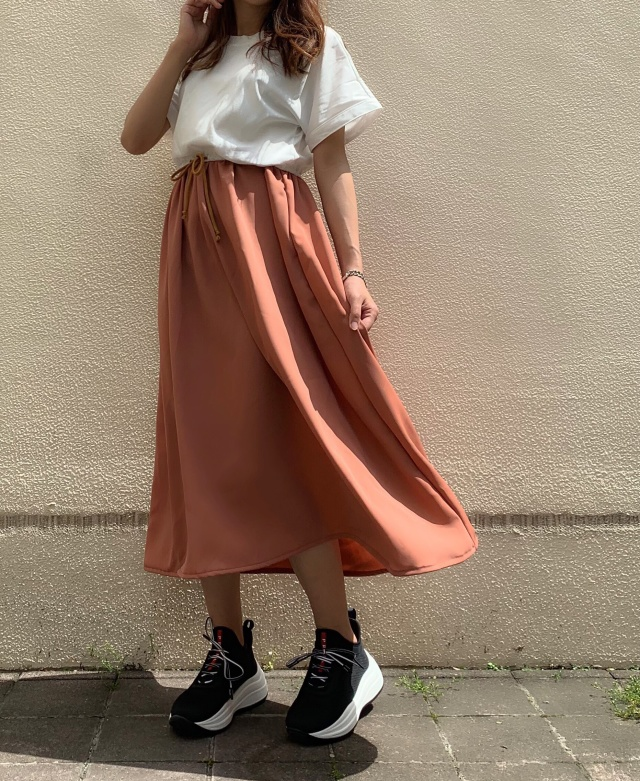 【selva secreta】CASUAL DRESS(white×apricot)