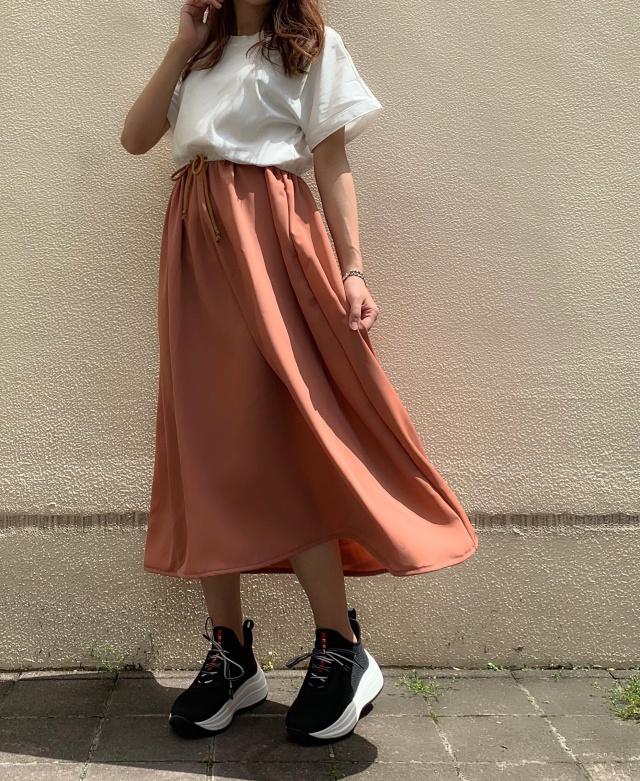 【selva secreta】CASUAL DRESS(white×apricot)