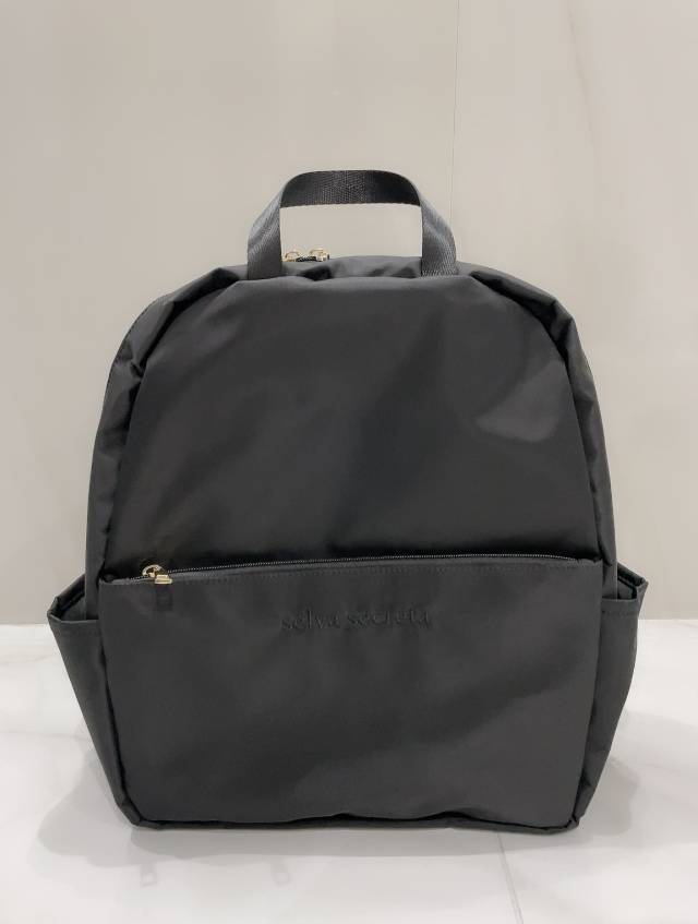 【selva secreta】RUCKSACK side pocket(black×black logo)