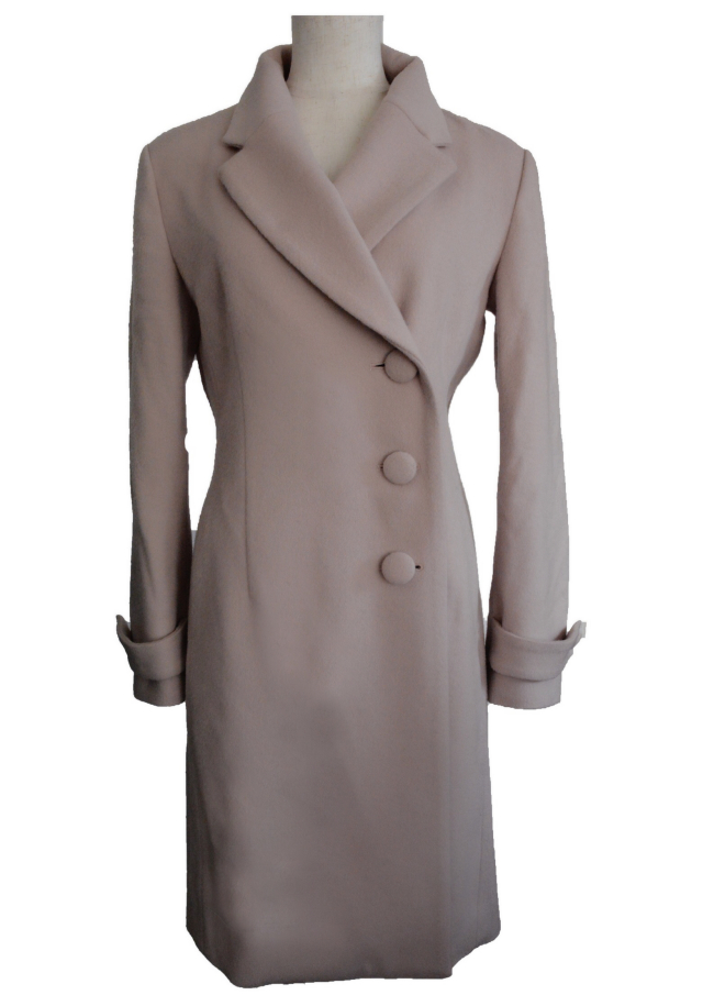 【selva secreta】WOOL LONG COAT(pink beige)