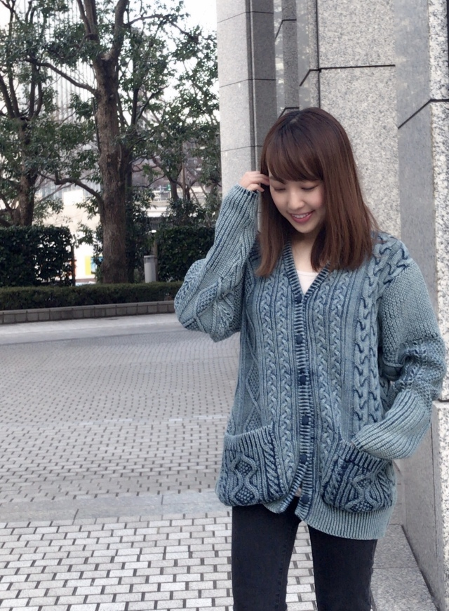 【selva secreta】DENIM  KNIT CARDE