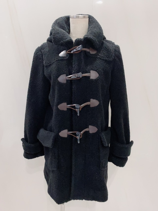 【selva secreta】DUFFLE  Teddy Bear COAT (black)