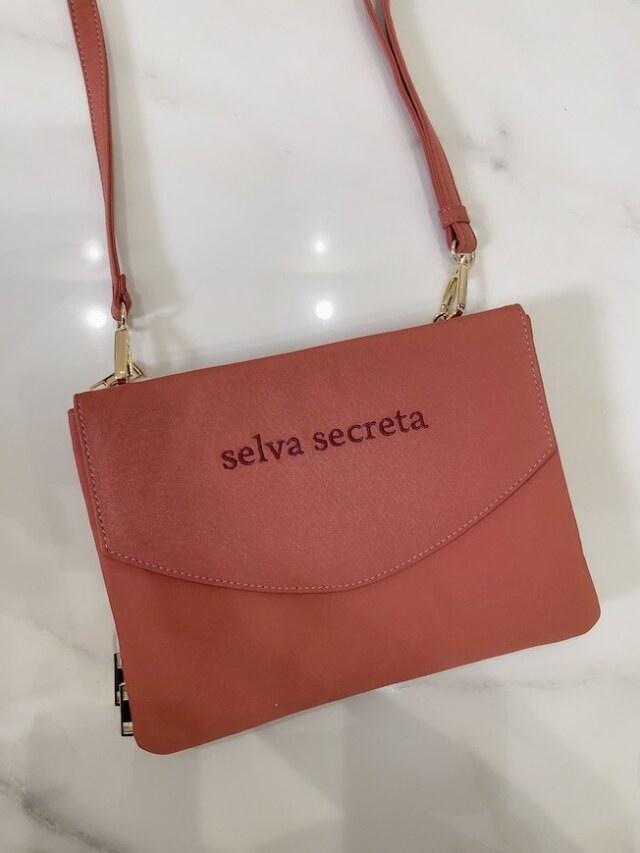 【selva secreta】3-layer Wallet BAG(pink-brown)