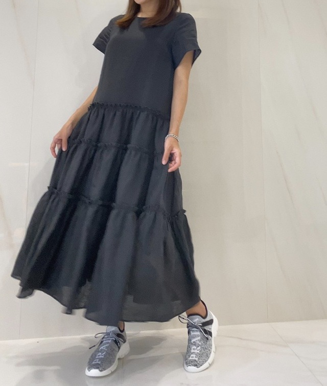 【selva secreta】LINEN DRESS(black)