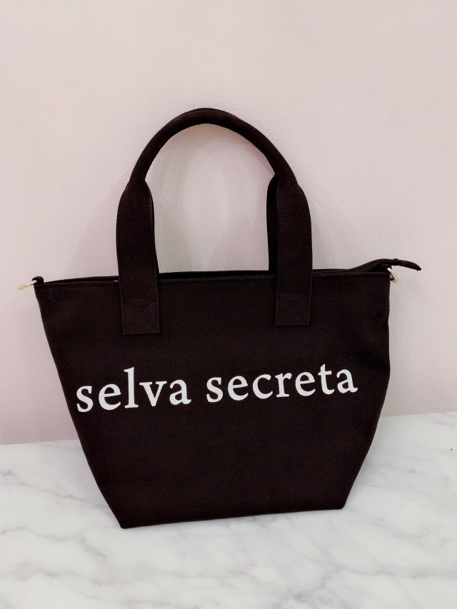【selva secreta】LOGO TOTE BAG(black)