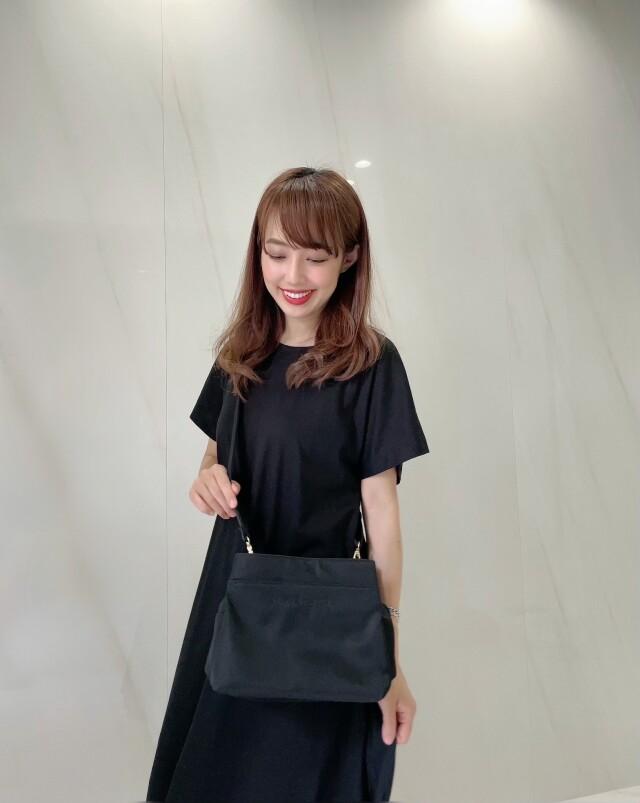 【selva secreta】Shoulder long-wallet BAG(black×black logo)