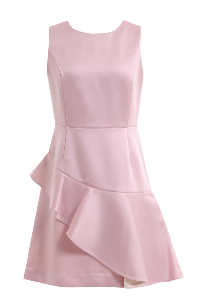 【selva secreta】FRILL CHAMPAGNE DRESS(pink)