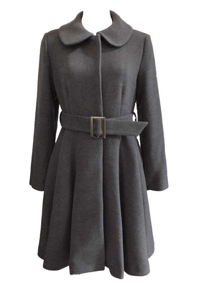 【selva secreta】FLARED  COAT The latest edition(gray)