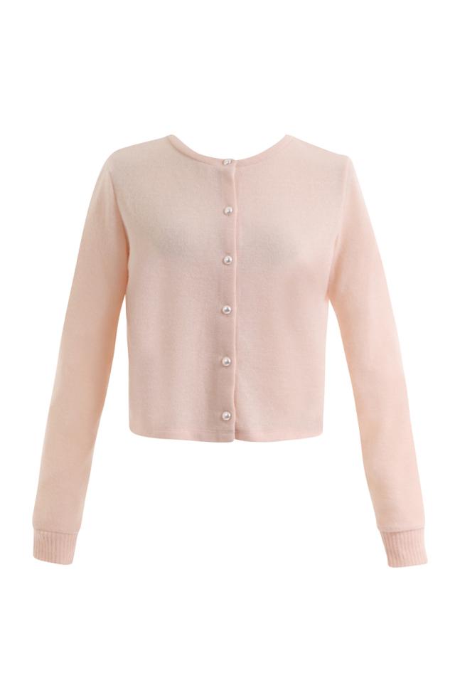 【selva secreta】LADY CARDE(pink)(pearl-button)