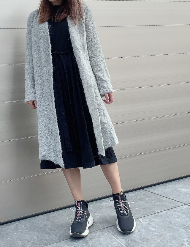 【selva secreta】ALPACA long carde(gray)