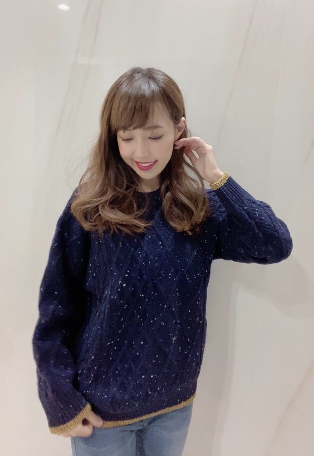 【selva secreta】WOOL KNIT(night sky blue)