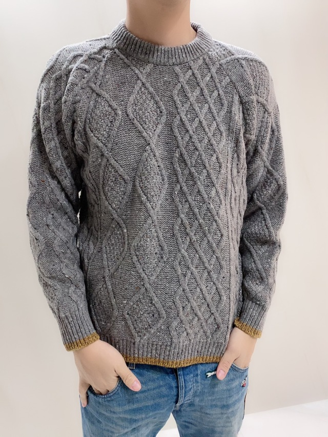 【selva secreta】MEN'S WOOL KNIT(gray)