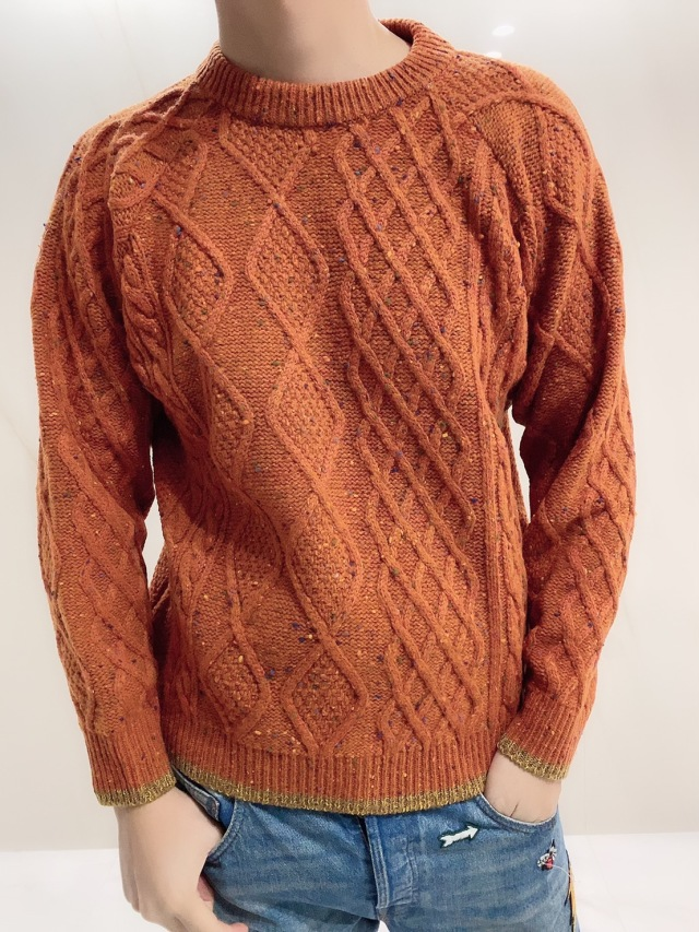 【selva secreta】MEN'S WOOL KNIT(orange)
