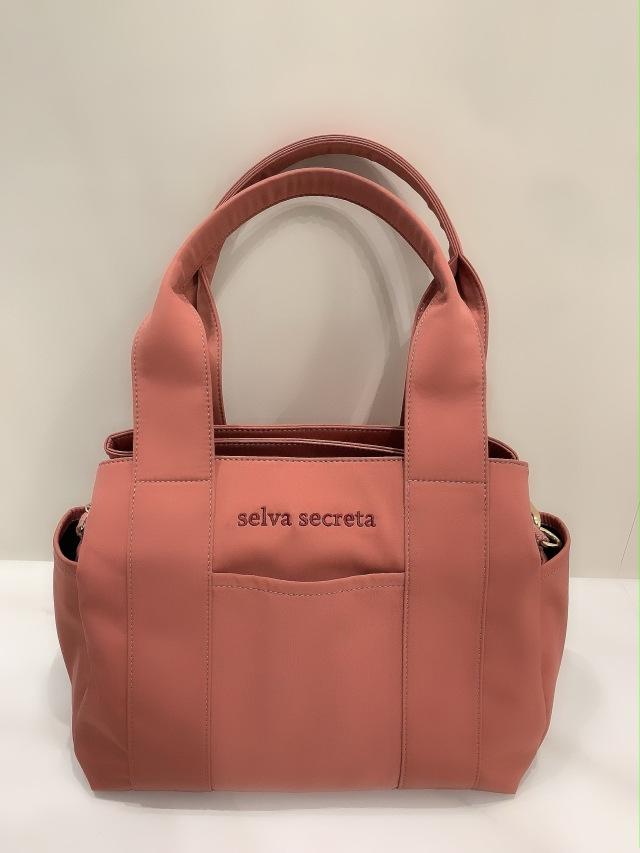 【selva secreta】3-layer TOTE BAG(pink-brown)