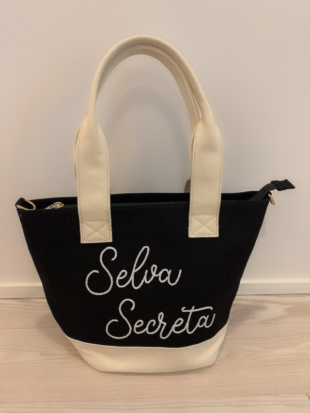 【selva secreta】Stitch LOGO TOTE BAG(black)