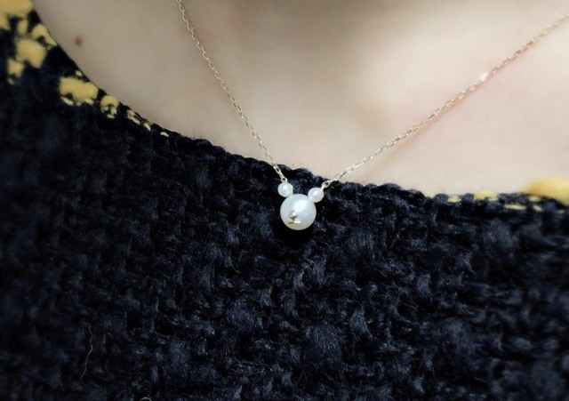 【selva secreta】BearPearl Necklace