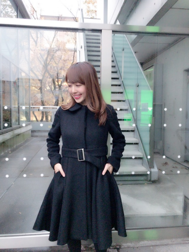 【selva secreta】ALPACA FLARED  COAT(black)
