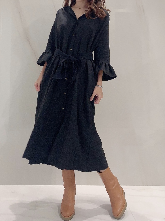 【selva secreta】SHIRTS DRESS(black)