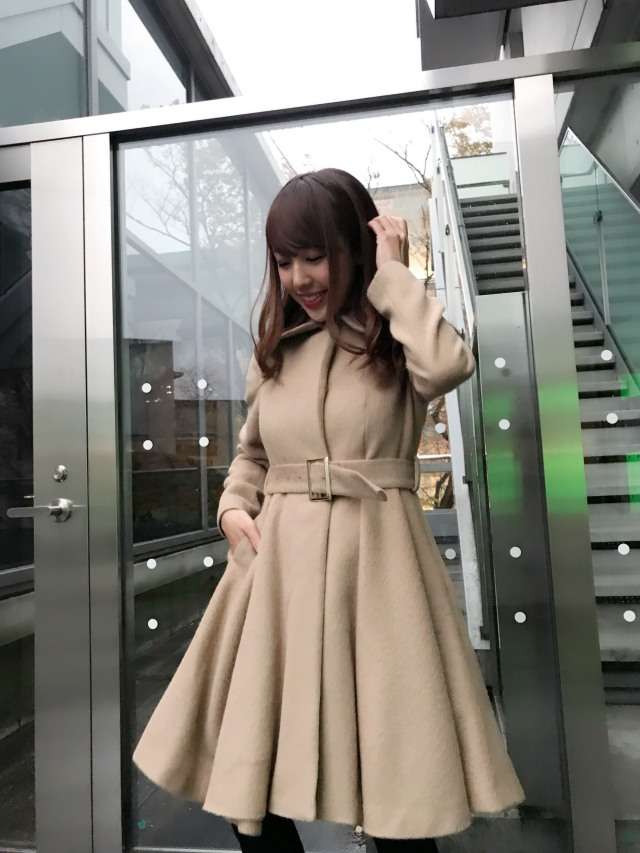 【予約販売】【selva secreta】ALPACA FLARED  COAT(beige)
