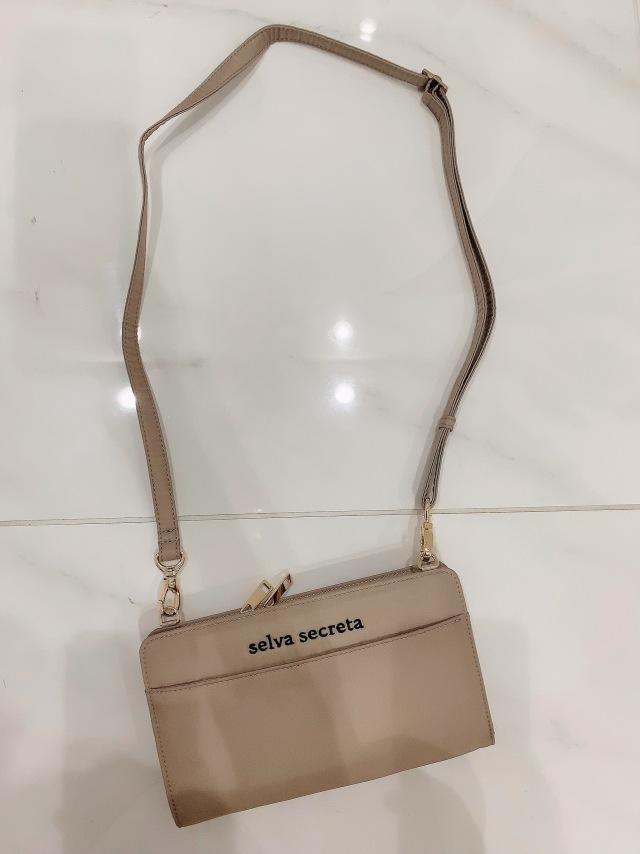 【selva secreta】Wallet BAG(beige×gold)