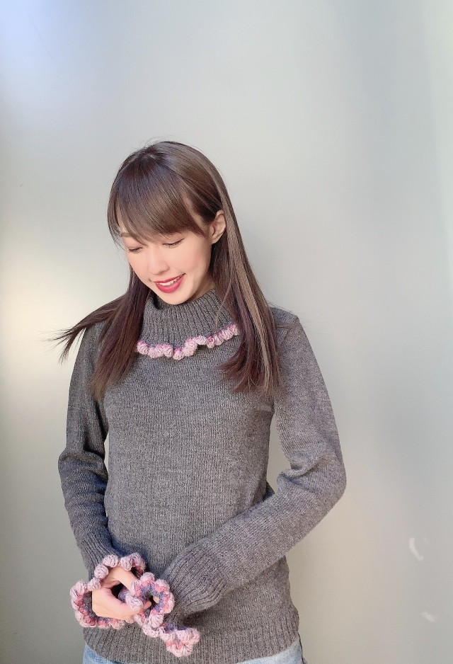 【selva secreta】ALPACA TURTLE KNIT(new-gray)