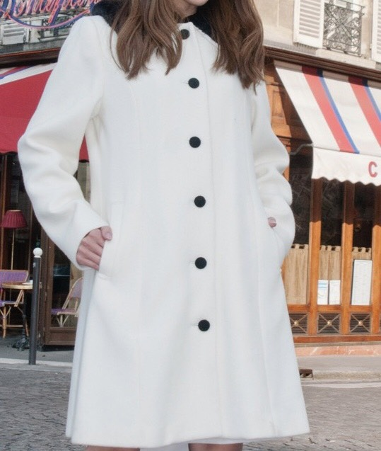 【selva secreta】60s  FAKEFAR COAT(white)