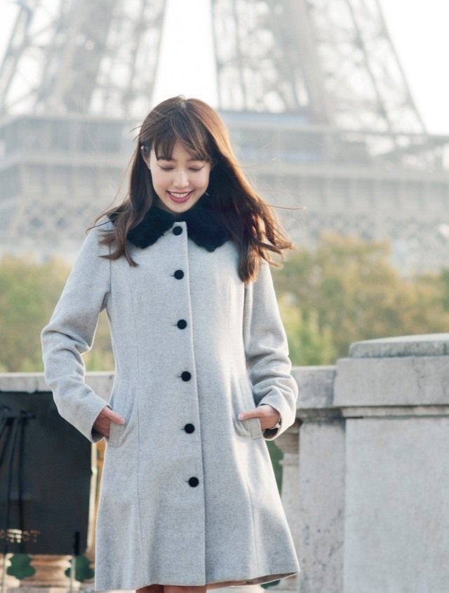 【selva secreta】60s  FAKEFAR COAT(gray)