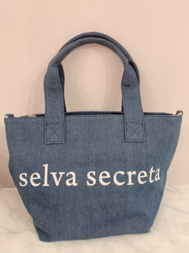 【selva secreta】LOGO TOTE BAG(denim-light-blue)