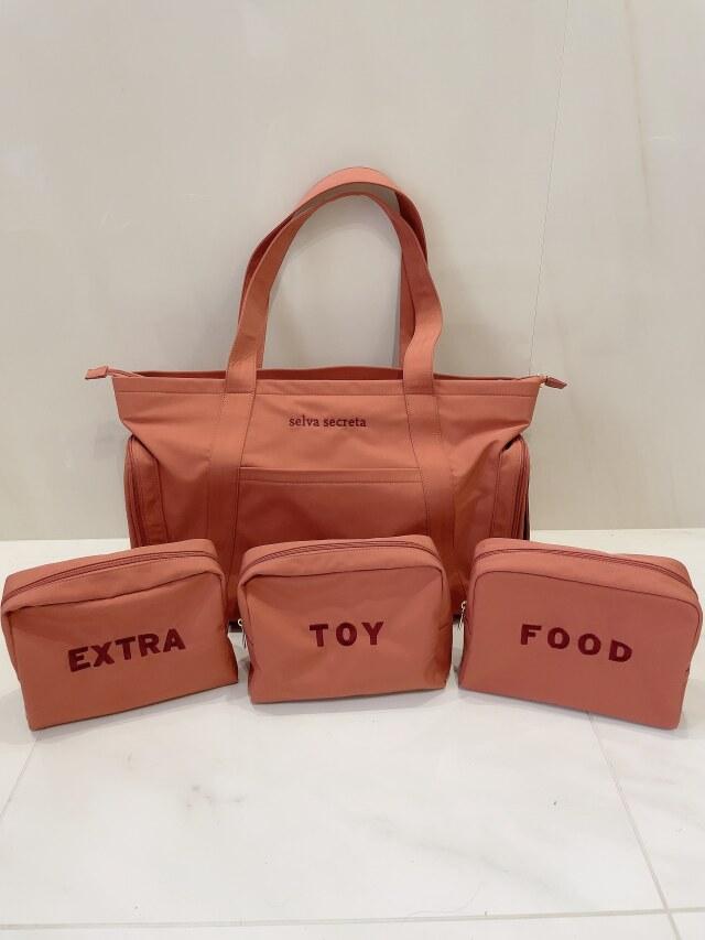 【selva secreta】MOM TOTE BAG(pink-brown)