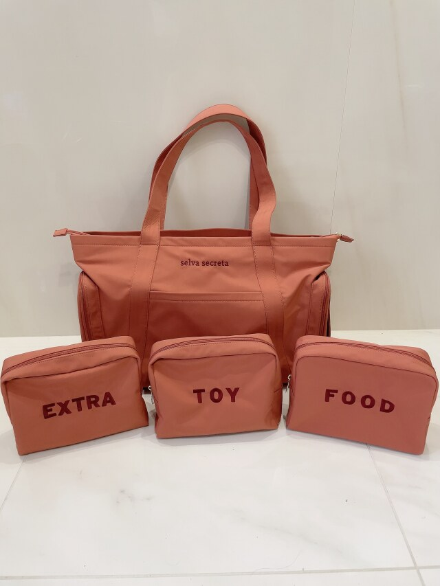 【selva secreta】MOM TOTE BAG(pink-brown)