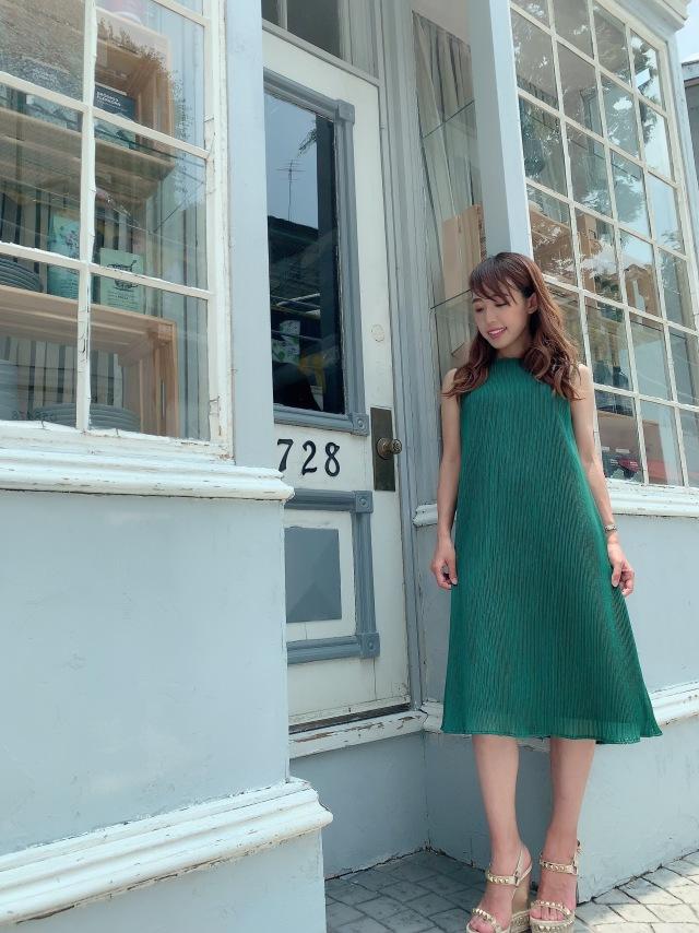 【selva secreta】A line DRESS(green)