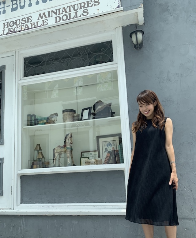 【selva secreta】A line DRESS(black)