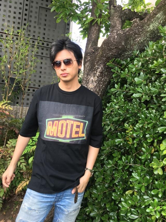 【予約販売】【ANTIMINSS】 MOTEL Tshirt(black)