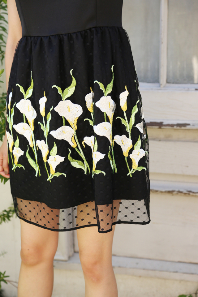 【selva secreta】FLOWER DRESS(black)